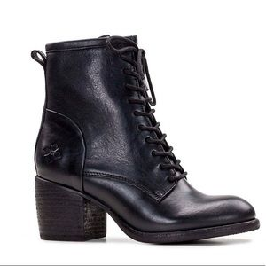 Patrica Nash Sicily Leather Block Heel Combat Boot